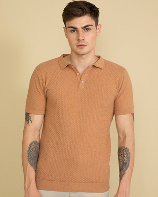 Shop Snitch Perky Beige T-Shirt-Front