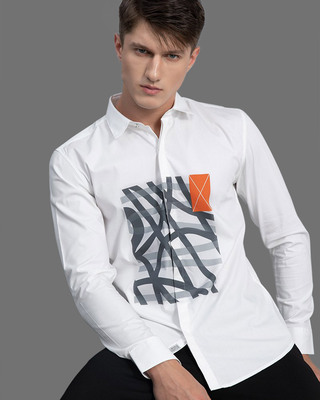 Shop Snitch Squiggle White Shirt-Front