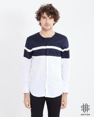 Shop Snitch White Cut & Sew Shirt-Front