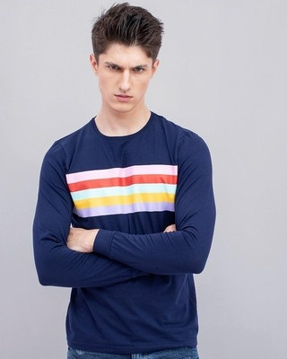 Shop Snitch Wubrg Navy T-Shirt-Front