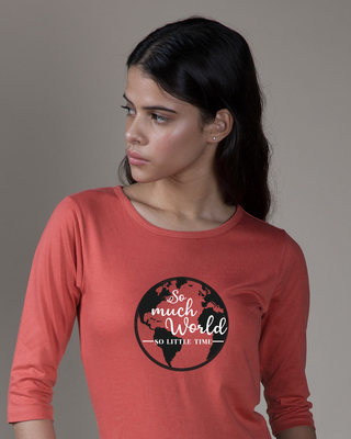 Shop So Much Time Round Neck 3/4th Sleeve T-Shirt-Front