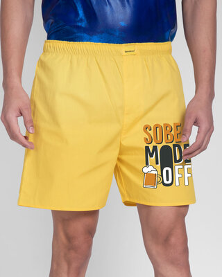 Shop Sober Mode Side Printed Boxer-Front