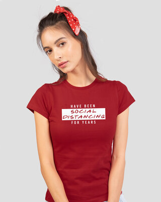 Shop Social Distancing For Years Half Sleeve T-Shirt-Front