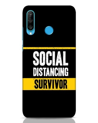 Shop Social Distancing Huawei P30 Lite Mobile Cover-Front