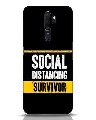 Shop Social Distancing Oppo A5 2020 Mobile Cover-Front