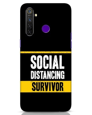 Shop Social Distancing Realme 5 Pro Mobile Cover-Front
