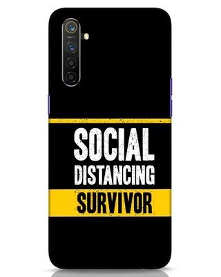 Shop Social Distancing Realme 6 Mobile Cover-Front
