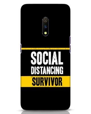 Shop Social Distancing Realme X Mobile Cover-Front