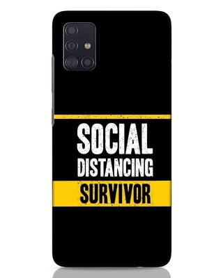 Shop Social Distancing Samsung Galaxy A51 Mobile Cover-Front