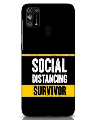 Shop Social Distancing Samsung Galaxy M31 Mobile Cover-Front