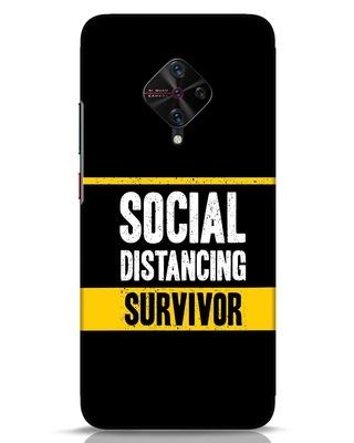 Shop Social Distancing Vivo S1 Pro Mobile Cover-Front