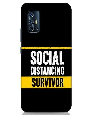 Shop Social Distancing Vivo V17 Mobile Cover-Front