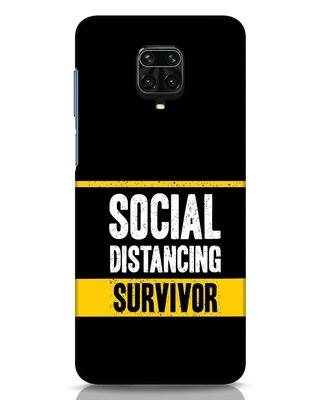 Shop Social Distancing Xiaomi Redmi Note 9 Pro Mobile Cover-Front