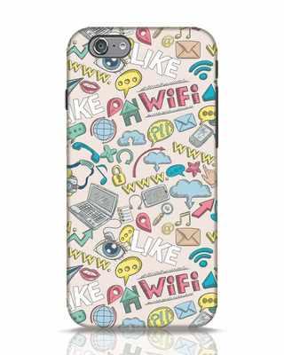 Shop Social Doodle iPhone 6s Mobile Cover-Front
