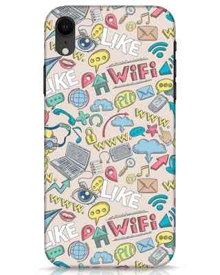 Shop Social Doodle iPhone XR Mobile Cover-Front