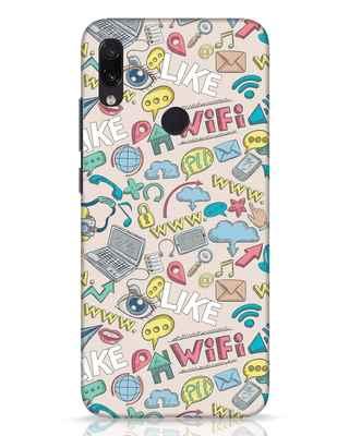 Shop Social Doodle Xiaomi Redmi Note 7 Pro Mobile Cover-Front
