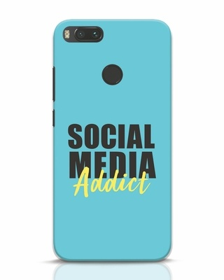 Shop Social Media Addict Xiaomi Mi A1 Mobile Cover-Front