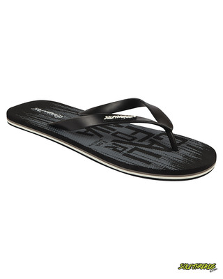Shop Solethread California Black Men's Flip-Flop-Front