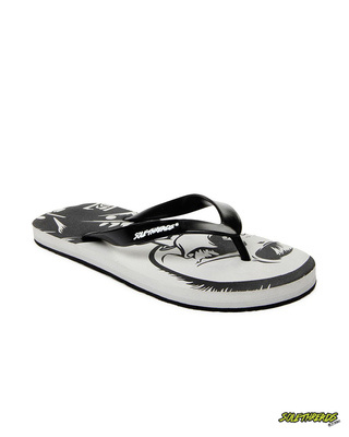 Shop Solethread Eagle Skull Light Grey Men's Flip-Flop-Front