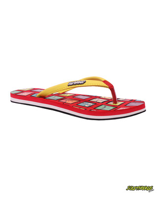 Shop Solethread Smiley Red Women's Flip-Flop-Front
