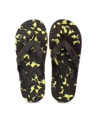 Shop Solethreads Everlast - Black/Lime Flip Flops For Men-Front