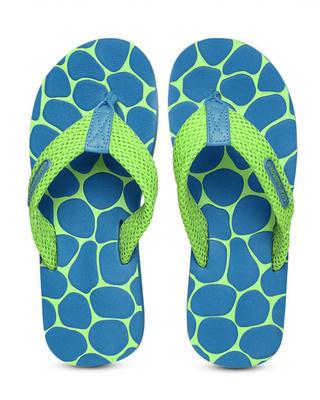 Shop Solethreads Pebble - Aqua Flip Flops For Men-Front