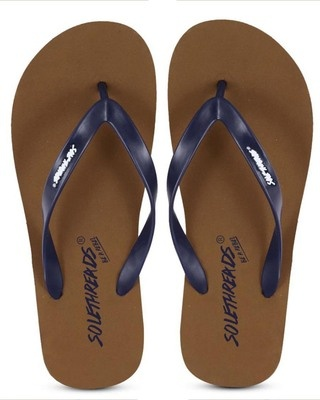 Shop Solethreads St Basic - Tan Flip Flops For Men-Front
