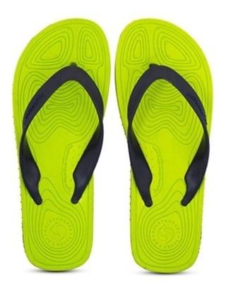 Shop Solethreads Thor - Lime Flip Flops For Men-Front