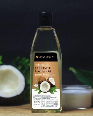 Shop Soulflower Coconut Oil For Skin & Hair Oil-Front