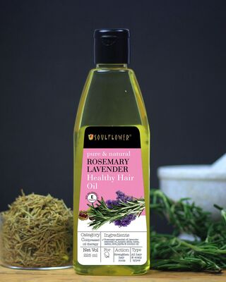 Shop Soulflower Rosemary Lavender Healthy Hair Oil-Front
