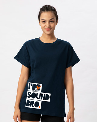 Shop Sound Bro Boyfriend T-Shirt (MTL)-Front