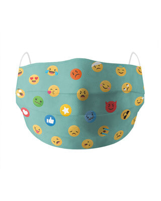 Shop Soxytoes Emojis Cotton Face Mask-Front