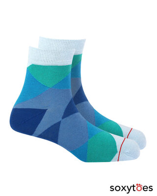 Shop Soxytoes Geometricals Argyle Ankle Socks (Pack of 2)-Front