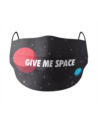Shop Soxytoes Give me space Cotton Face Mask-Front