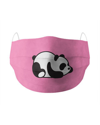 Shop Soxytoes Lazy Panda Cotton Face Mask-Front