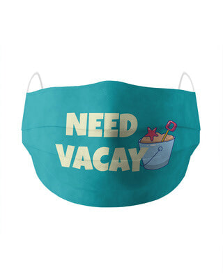 Shop Soxytoes Need Vacay Cotton Face Mask-Front
