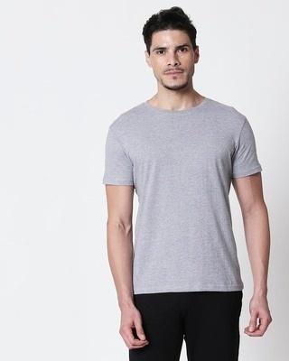 Shop Space Grey Men's Half Sleeve T-Shirt-Front
