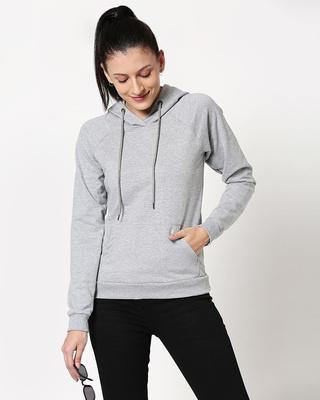 Shop Space Grey Hoodie Sweatshirt-Front