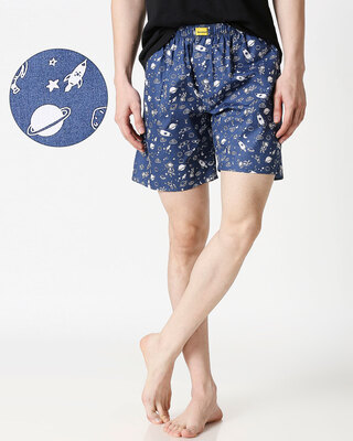 Shop Space Side Pocket Men's Boxers-Front