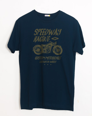 Shop Speedway On Wheels Half Sleeve T-Shirt-Front