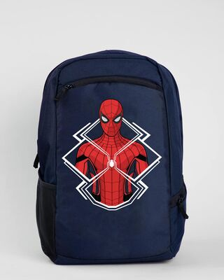 Shop Spiderman Laptop Bag (FFHL) Navy Blue-Front