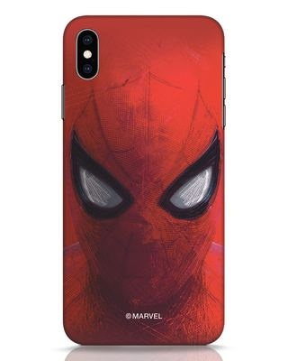Shop Spiderman Red iPhone XS Max Mobile Cover (AVL)-Front