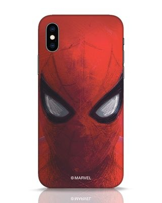 Shop Spiderman Red iPhone XS Mobile Cover (AVL)-Front
