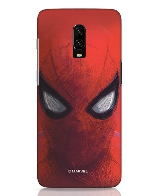Shop Spiderman Red OnePlus 6T Mobile Cover (AVL)-Front