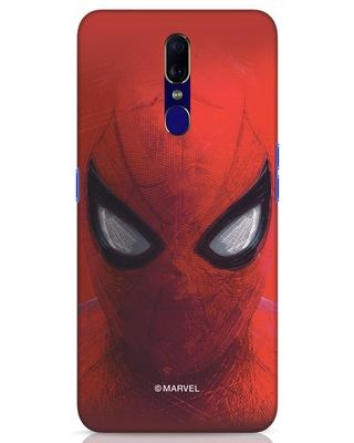 Shop Spiderman Red Oppo F11 Mobile Cover (AVL)-Front