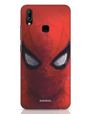 Shop Spiderman Red Vivo Y91 Mobile Cover (AVL)-Front