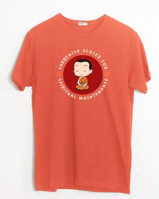 Shop Spirit Maintenance Half Sleeve T-Shirt Oxyfire-Front