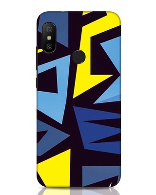 Shop Sporty Abstract Xiaomi Redmi Note 6 Pro Mobile Cover-Front