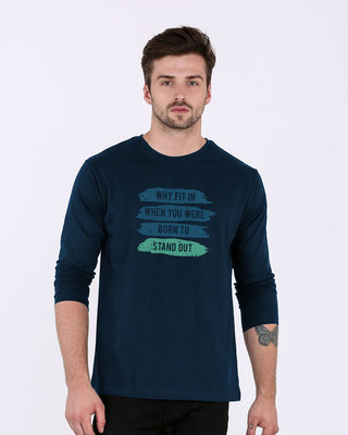 Shop Stand Out Brush Full Sleeve T-Shirt-Front