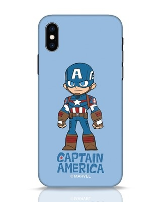 Shop Star Captain America iPhone XS Mobile Cover-Front